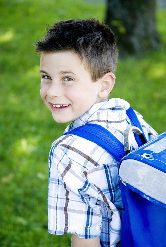 boy wearing backpack