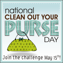 National Clean Out Your Purse Day + Giveaway!