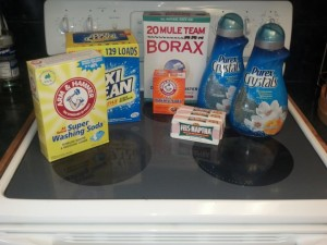 Ingredients for HE washing soap