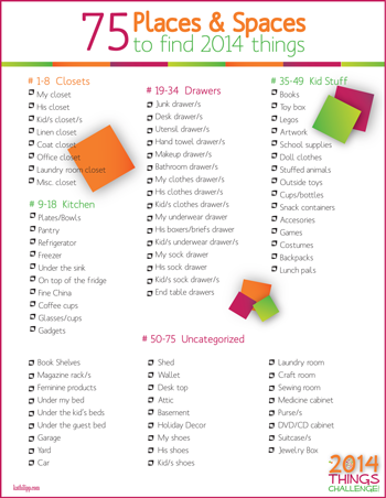 75 Places and Spaces to Organize