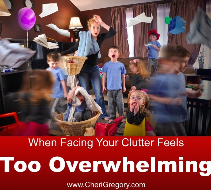 When Facing Your Clutter Feels Too Overwhelming IMAGE