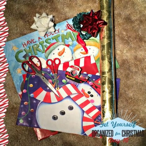 Get Yourself Organized for Christmas Project 10: Gather Your Elf Supplies