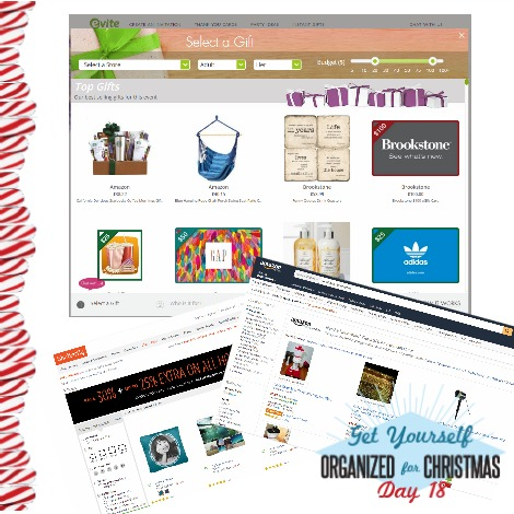 Get Yourself Organized for Christmas Project 18: Get Online