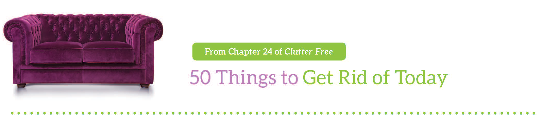 Focus kathi lipp for Ways to get rid of clutter