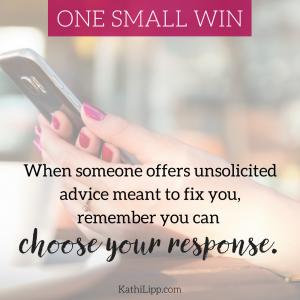 unwelcome advice