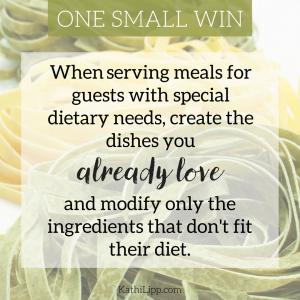 accommodating dietary need