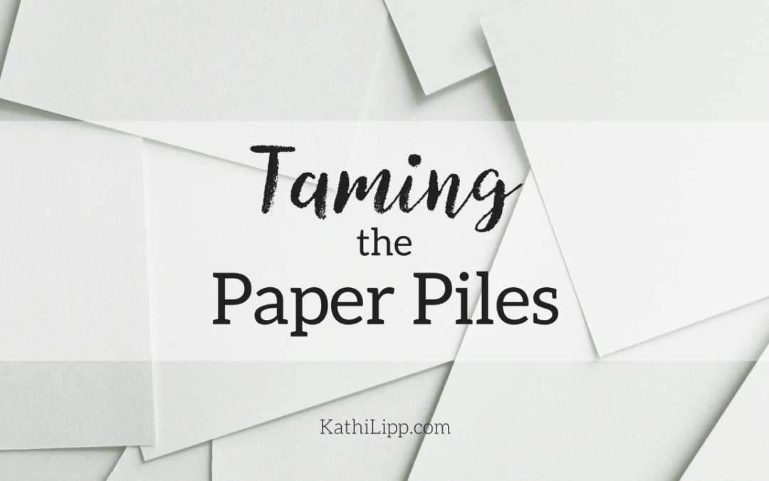 Taming the Paper Piles with Amy Carrol (Vlog)