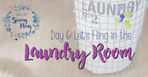 Spring Fling Day #6: Organize the Laundry Room