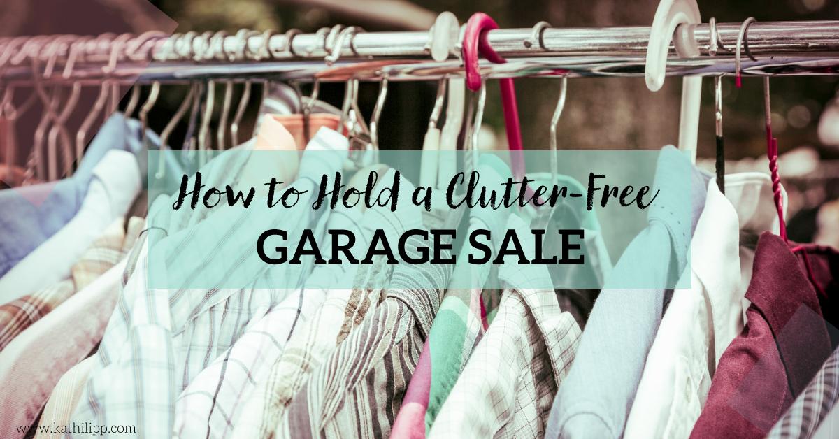 clutter-free garage sale