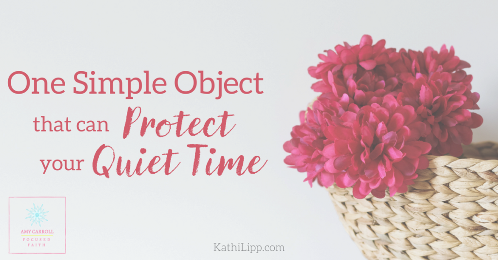 One Simple Project that Can Protect your Quiet Time