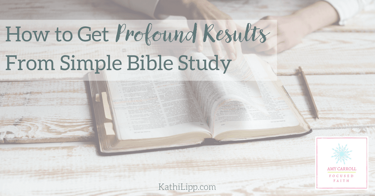 Results from Simple Bible Study