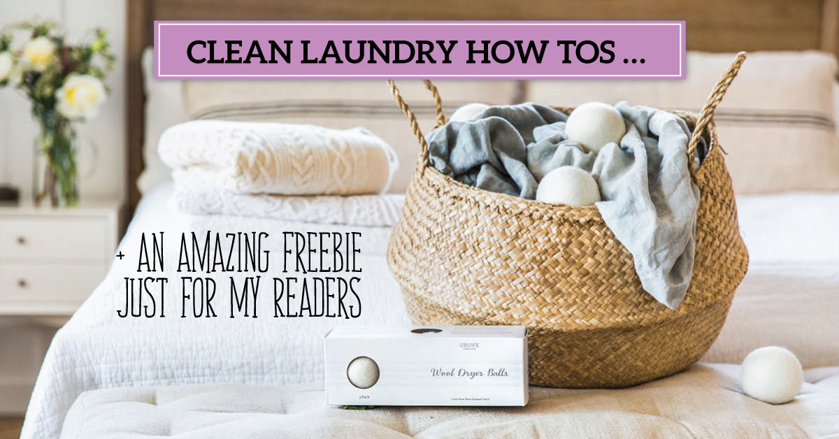 Clean Laundry How Tos … (AND an Amazing Freebie Just for My Readers)