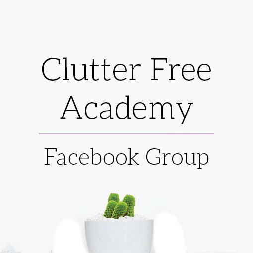 clutter free academy facebook group