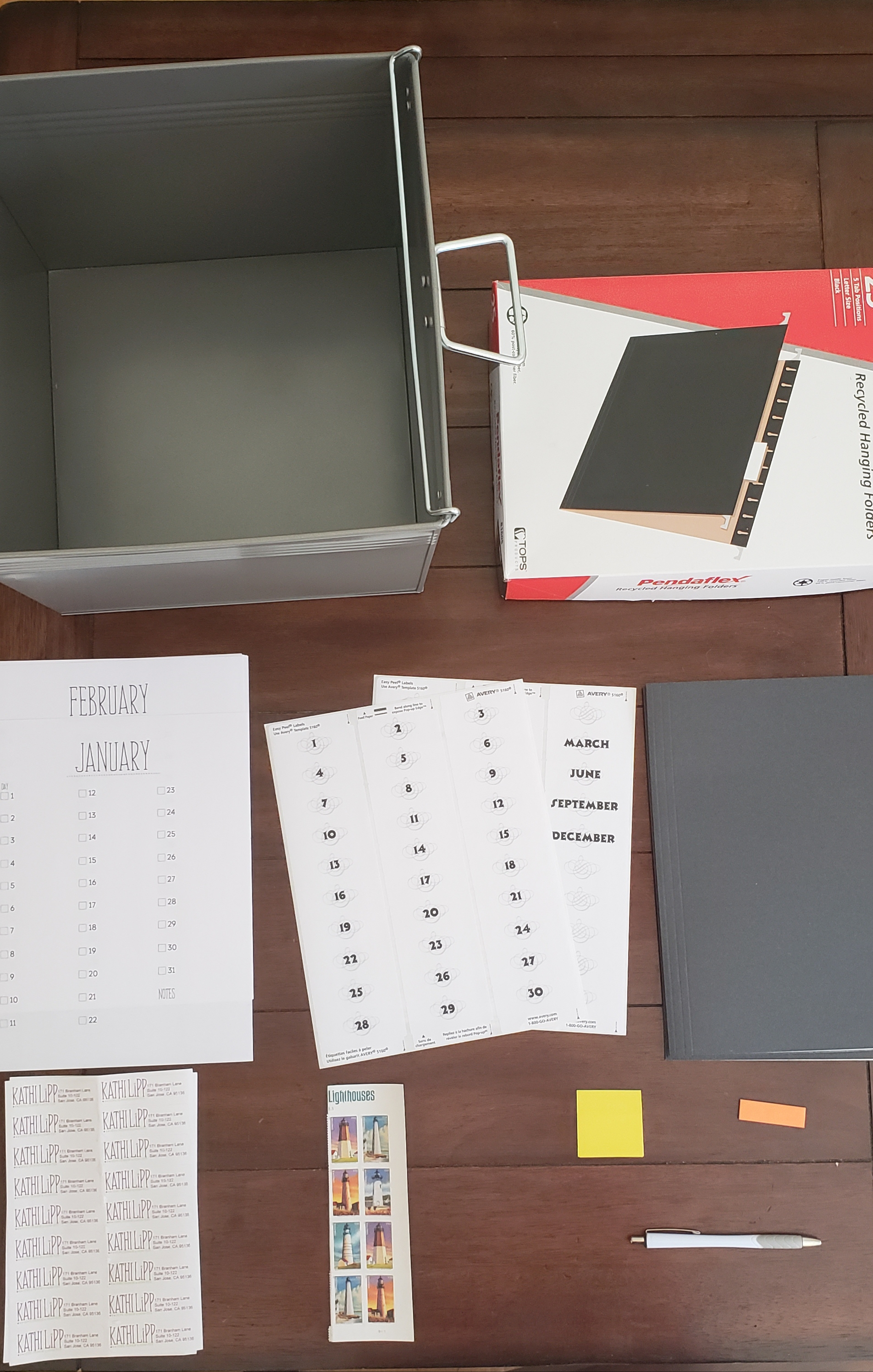 Materials Needed For Your Home Office Filing System