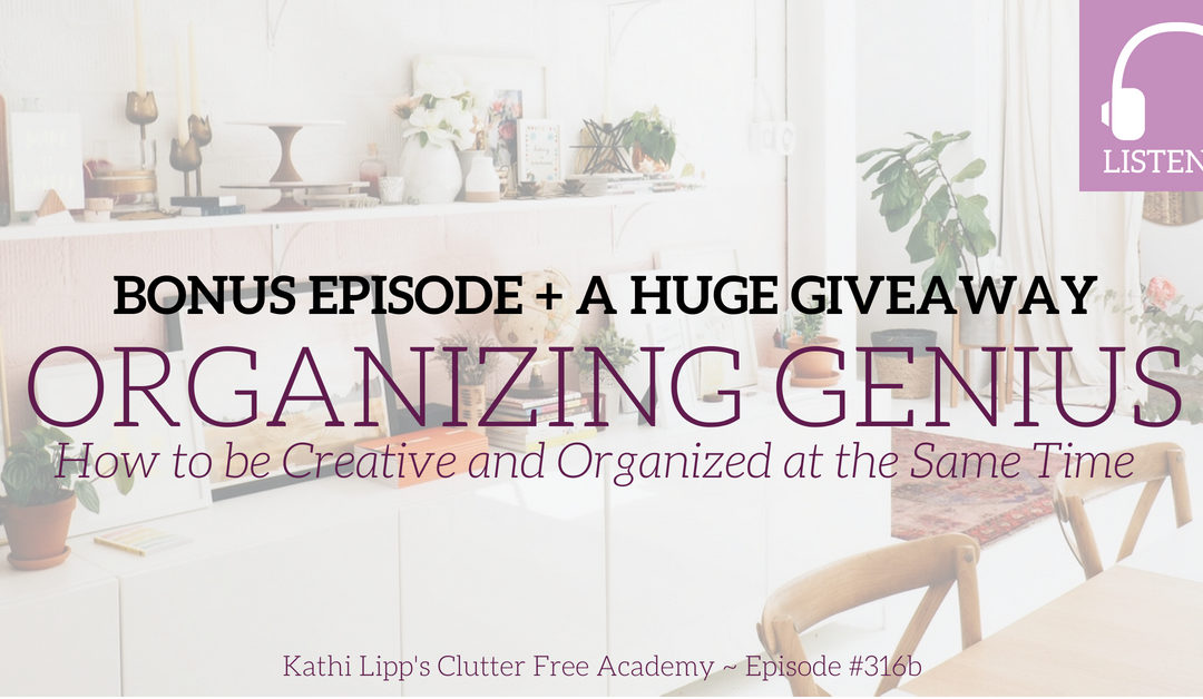 BONUS Episode #316b- Organizing Genius: How to be Creative and Organized at the Same Time