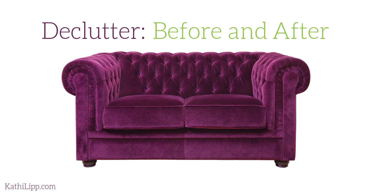Declutter Before and After-Melody's Story