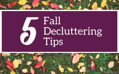5 Fall Decluttering Tips