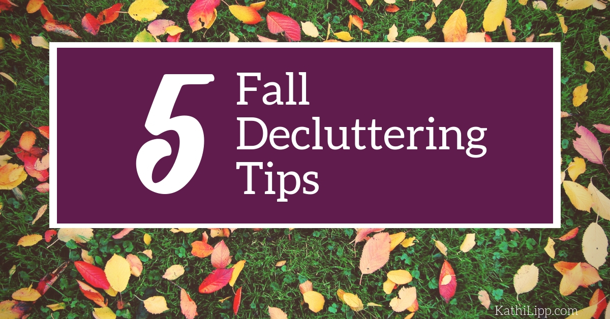 5 Fall Decluttering Tips