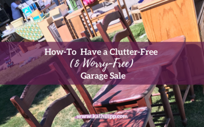 How-To Have a Clutter Free (& Worry Free) Garage Sale